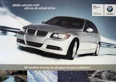 New BMW xDRIVE System PROMOTIONAL INFORMATION BROCHURE 06 USA Ship