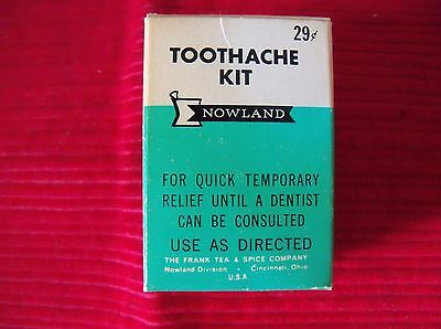Vintage Nowland TOOTHACHE kit