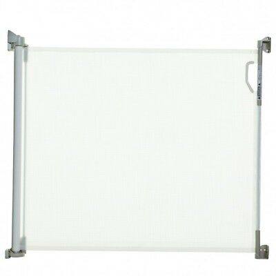 Dreambaby Retractable Toddler Child's Safety Gate Barrier - White