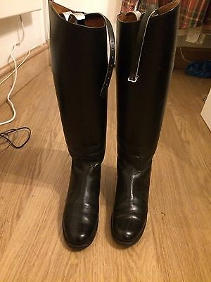 Black Leather Hunting Boots