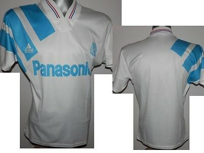 1991-92 FC Olympique Marseille Home French Football Shirt Soccer size - S  36/38