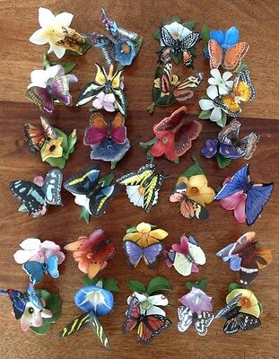 """Franklin Mint 2x Complete Collections """"Butterflies Of The World & Paradise"""""""