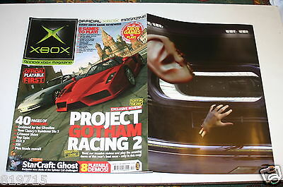 Xbox Official Magazine Project Gotham Racing Dino Crisis Foldout Ad Starcraft