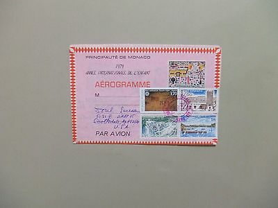 Monaco aerogramme used with France stamps