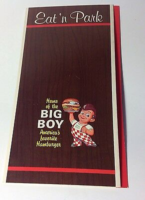 1967 Eat 'n Park Big Boy Restaurant Menu, Pennsylvania -32 Locations