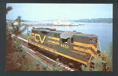Central Vermont's Railway's Number 4450  GP-9 Railroad Postcard