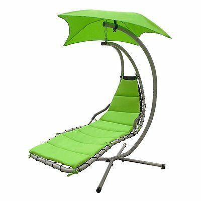ALEKO Arc Stand Swing Hanging Chaise Lounger Patio Porch Deck Pool Green