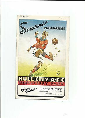 HULL CITY v LINCOLN CITY 1946/47 (First match at Boothferry Park)