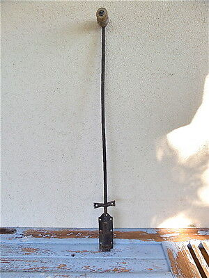 "Antique  33"" long French Hand Forged  Wrought Iron Sliding Latch Door 1900s"