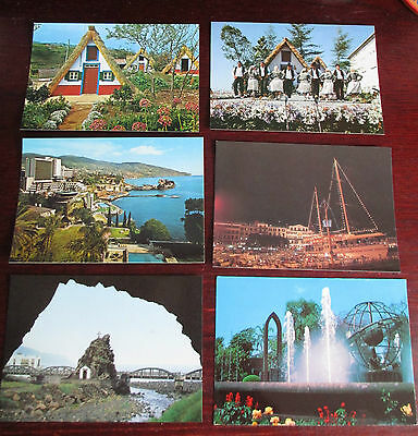 6 postcards of Madeira - traditional house & dancing, Funchal, St Vincent chapel