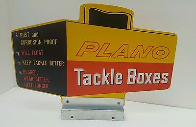 Plano Tackle Boxes Advertising Store Sign Man Cave Decoration