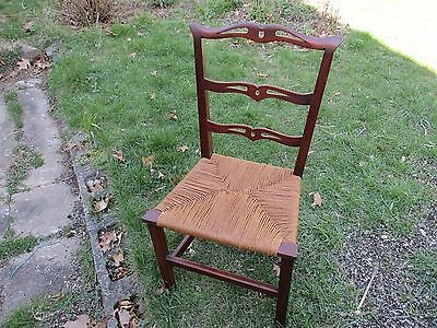 Antique Mahogany Chippendale Ribbon Back Chair 19th Century LOCAL PICKUP