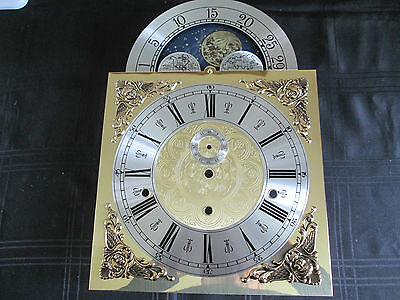 A Hermle  Longcase Clock Moon Roller Dial And Movement False Plate