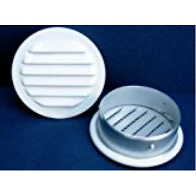 "Maurice Franklin Louver-1.5"" Round White Aluminum Louver with Insect Screen"