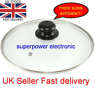 New Tempered Glass Vented Spare Replacement Lid Saucepans Casseroles Frying Pans