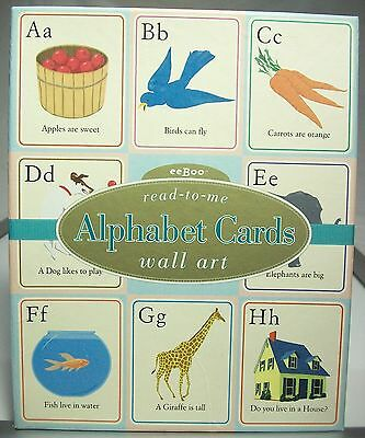 """read-to-me Alphabet Cards wall art  26 8""""x10"""" cards by eeBoo  good condition"""