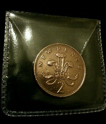 NEW PENCE 2p COIN  year 1979 circulated rare
