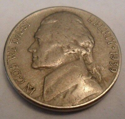 1939 S Jefferson Nickel  *VG OR BETTER*  **FREE SHIPPING**