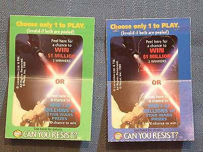 Star Wars Lays Cards (2) Qui-Gon Instincts Padme Can'T Resist Curiosity 1999