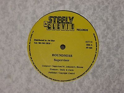 "Supervisor - Roundness 12"" Mix Vg+ Uk Steely & Clevie Records Sct 42"