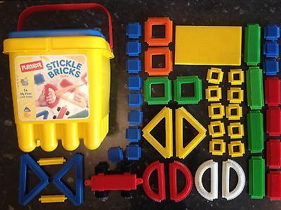 Stickle Bricks My First Large Bucket Complete Original Set By PLAYSKOOL