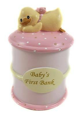 Diddy Duck First Money Bank/Box - Little Girl - Pink - Ideal Gift. - REDUCED