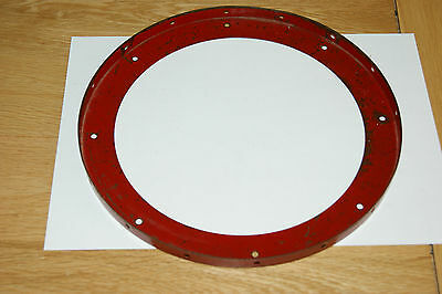 """Meccano 167b 9 6/8"""" Flanged Ring in Red"""