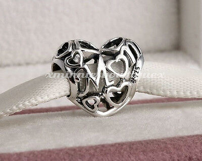 Genuine Pandora Motherly Love Mum Mother Openwork Charm S925 Ale Sterling Silver