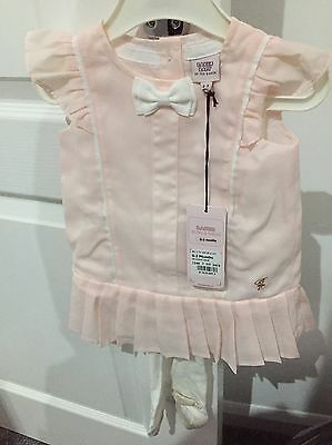 Girls 0-3 Month Ted Baker Dress And Tights