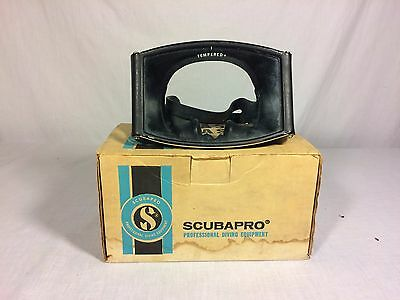 Vintage Scubapro Wrap Around Diving Mask Tempered Glass