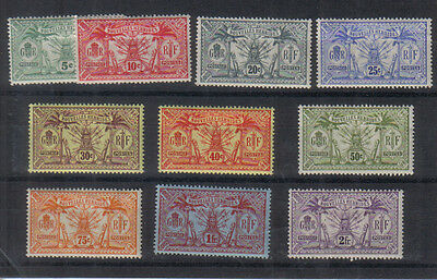New Hebrides 1913 (wmk RF in sheet) set to 2f mounted mint