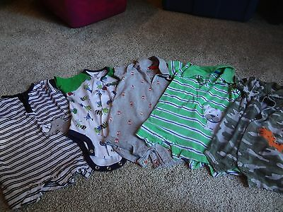 Lot of 5 One Piece Outfits - Boys 3-6 Months