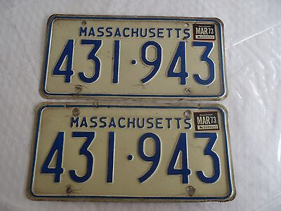 1967-73 Massachusetts  License Plate Tags 431943