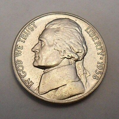 1938 P Jefferson Nickel  *AU - ALMOST UNCIRCULATED*  **FREE SHIPPING**
