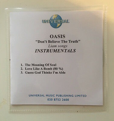 Oasis - Don't Believe The Truth - 3 Trk Promo CD -Liam Songs Instrumentals 2005