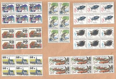 Czechoslovakia Large Selection Mint Blocks of Commemorative Stamps MNH