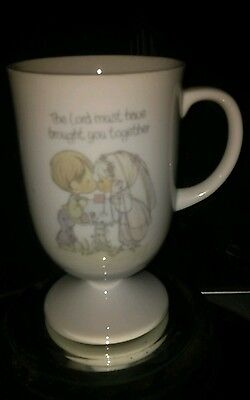Precious Moments  The Lord Must Have Brought You Together Coffee Mug 1983 EUC