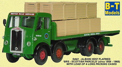 Base Toys Albion HD57 F/Bed - BRS Scottish Parcels DA61 (OO Scale)