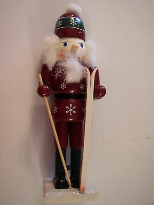 2002 Wooden Skier Nutcracker Limited Edition Collegiate Series Sterling Camille