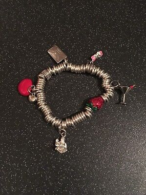 Silver Charm Bracelet With 5 Charms