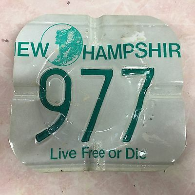 New Hampshire Old Man Of The Mountain Embossed License Plate Ash Tray