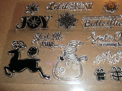 Card making&crafts christmas clear stamps