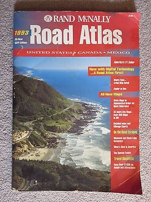 Vintage Rand McNally Road Atlas of United States Canada Mexico 1993 Maps