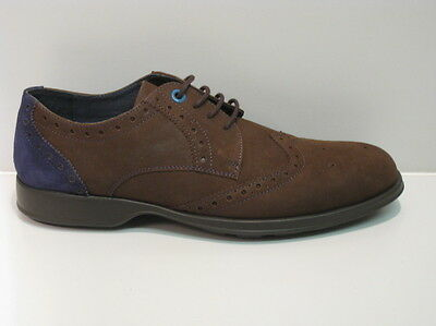 Men's Brand New Vito Rossi Brown Leather Nubuck Modern Brogue Lace-up UK 10