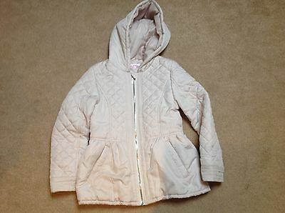 Girls Cream Debenhams Quilted Jacket/coat Age 8-9 Years For Your Little Darlings