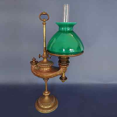 Wild A & Wessel Deep Green Student Oil Lamp Shade