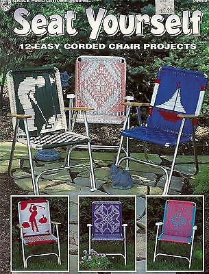 Seat Yourself Macrame Lawn Patio Chair Pattern Book - 12 Designs