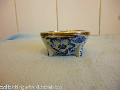 Beautiful Schoonhoven Pottery Tea Strainer Holder With Silver Collar 825