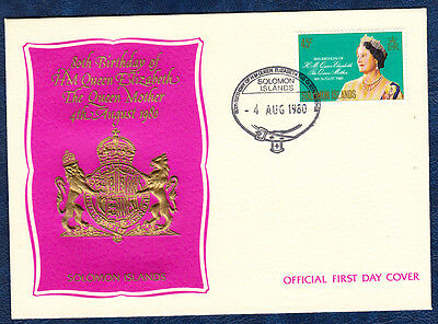 Solomon Islands 1980 Queen Mother 80Th Birthday First Day Cover