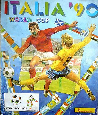 PANINI ITALIA 1990 WORLD CUP album ONLY 16 PAGES  In bad shape With 119 stickers